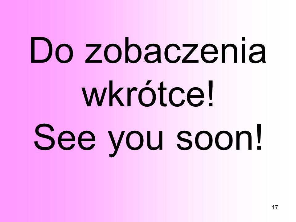 17 Do zobaczenia wkrótce! See you soon!