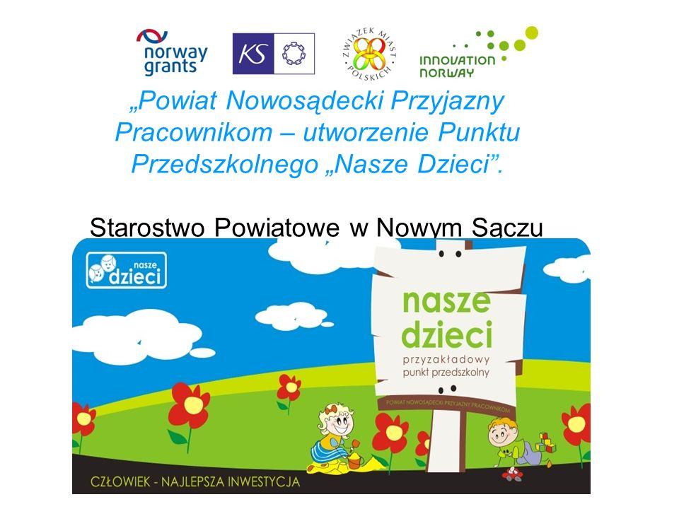 Powiat Nowosądecki Przyjazny Pracownikom – utworzenie Punktu Przedszkolnego Nasze Dzieci.