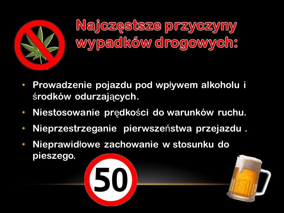 Prowadzenie pojazdu pod wp ł ywem alkoholu i ś rodków odurzaj ą cych.