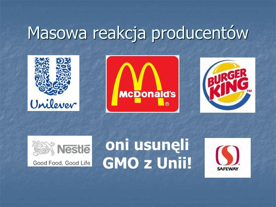 Masowa reakcja producentów oni usunęli GMO z Unii!