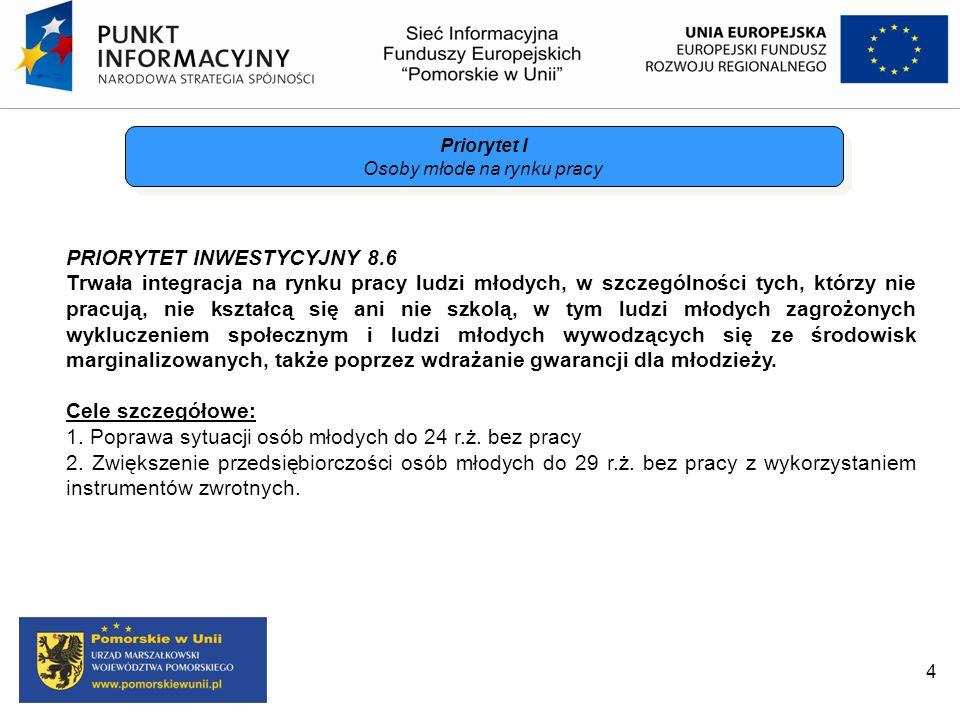 PRIORYTET INWESTYCYJNY 9.8 Potencjalnymi beneficjentami w PI 9.8 będą: Minister właściwy ds.