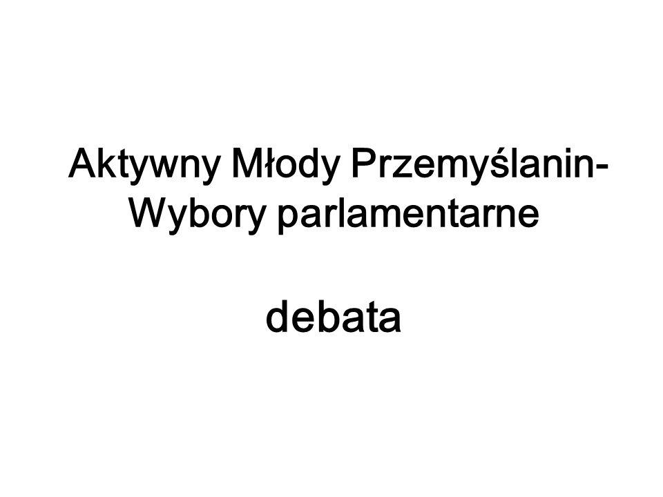 Aktywny Młody Przemyślanin- Wybory parlamentarne debata
