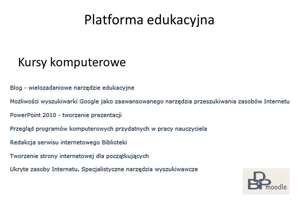 Platforma edukacyjna Kursy komputerowe