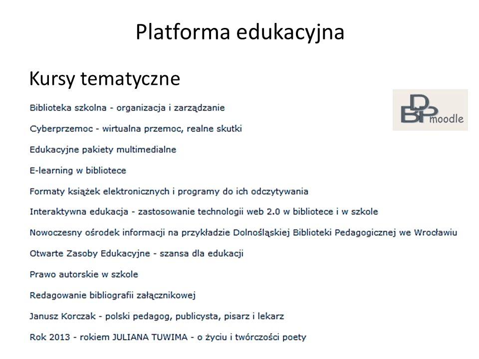 Platforma edukacyjna Kursy tematyczne