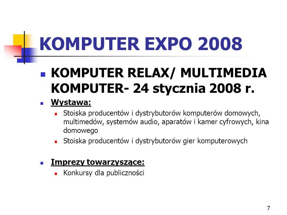 7 KOMPUTER EXPO 2008 KOMPUTER RELAX/ MULTIMEDIA KOMPUTER- 24 stycznia 2008 r.