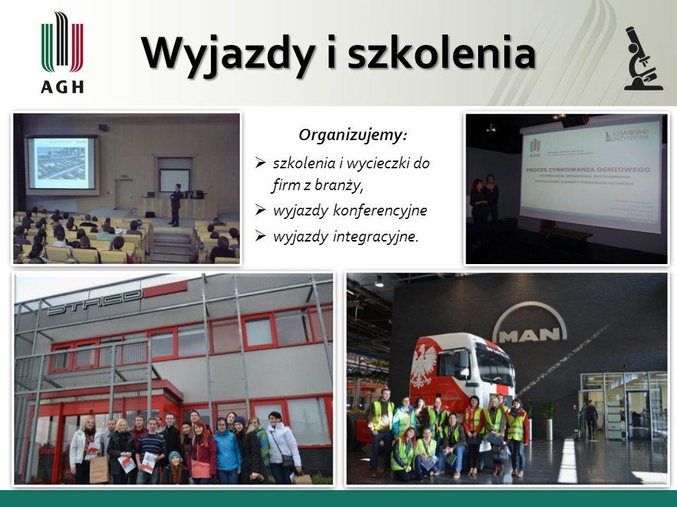 Członkowie naszego koła odpowiadają są za promowanie Wydziału i Uczelni podczas pikników naukowych w szkołach na terenie całej małopolski.
