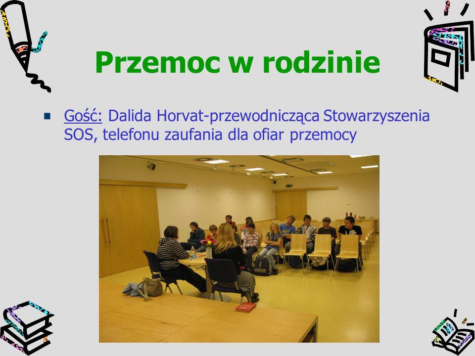 Przemoc w rodzinie Gość: Dalida Horvat-przewodnicząca Stowarzyszenia SOS, telefonu zaufania dla ofiar przemocy