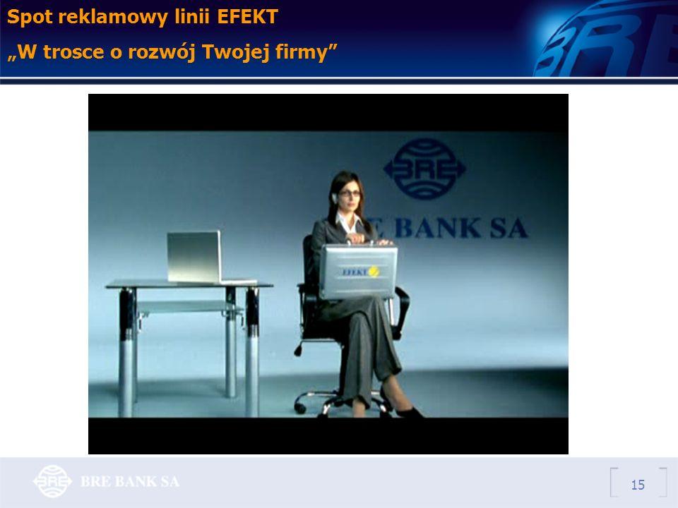 15 Spot reklamowy linii EFEKT W trosce o rozwój Twojej firmy