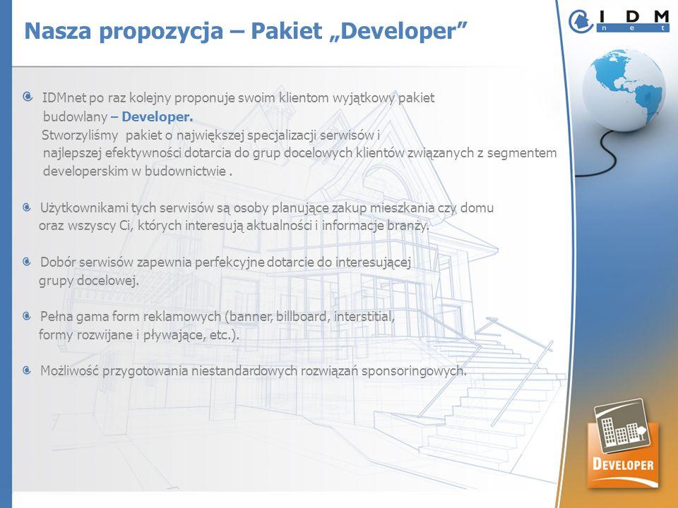 IDMnet po raz kolejny proponuje swoim klientom wyjątkowy pakiet budowlany – Developer. Stworzyliśmy pakiet o największej specjalizacji serwisów i najl