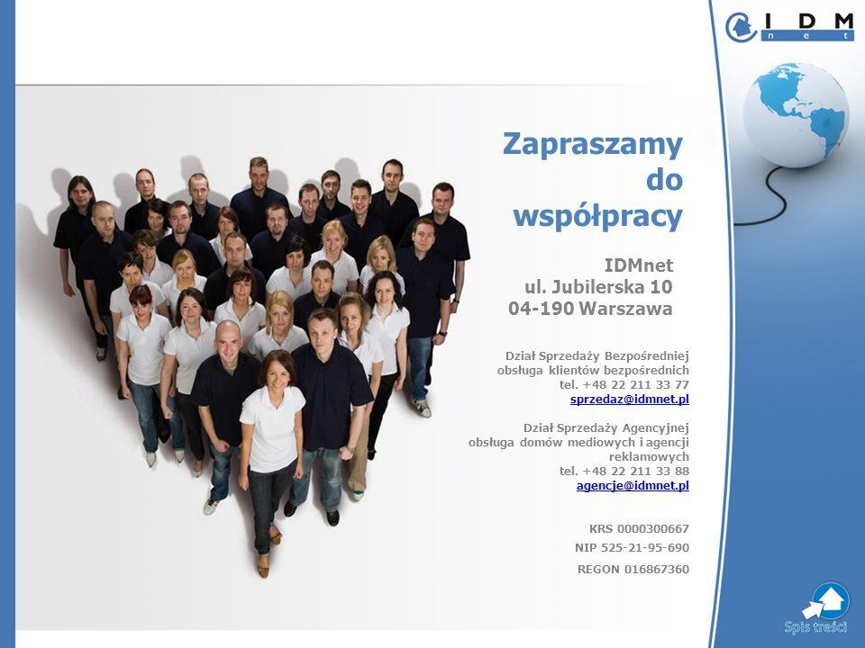 IDMnet ul. Jubilerska 10 04-190 Warszawa Dział Sprzedaży Bezpośredniej obsługa klientów bezpośrednich tel. +48 22 211 33 77 sprzedaz@idmnet.pl sprzeda