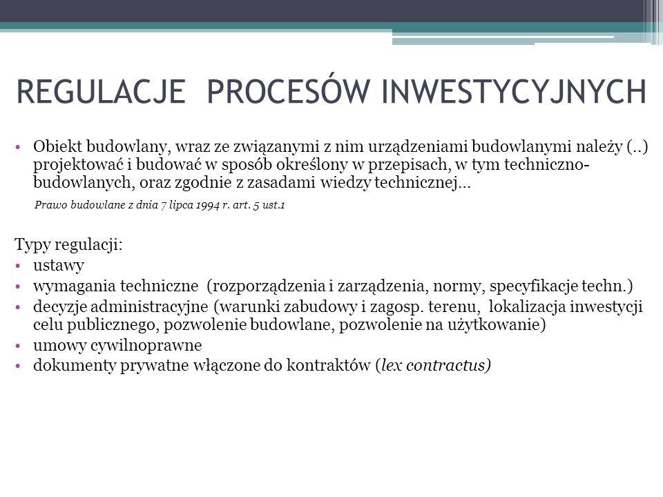Umowa o prace projektowe Przedmiot umowy - oznaczenie identyfikujące projekt gotowy lub szczegółowy opis co ma być zaprojektowane (zwykle załącznik) (umowa rezultatu) Obowiązki projektanta: - opracowanie projektu w sposób zgodny z ustaleniami określonymi w wymaganych decyzjach (warunki zabudowy, środowiskowe uwarunkowania,) wymagania ustawy, przepisy, zasady wiedzy technicznej, - zapewnienie udziału osób posiadających uprawnienia do projektowania w określonych specjalnościach i wzajemna koordynacja - sporządzenie informacji dotyczącej bezpieczeństwa i ochrony zdrowia ze względu na specyfikę projektu - uzyskanie wymaganych opinii uzgodnień i sprawdzeń - wyjaśnianie wątpliwości dotyczących projektu i zawartych w nim rozwiązań - sporządzanie lub uzgadnianie indywidualnej dokumentacji technicznej, - sprawowanie nadzoru autorskiego