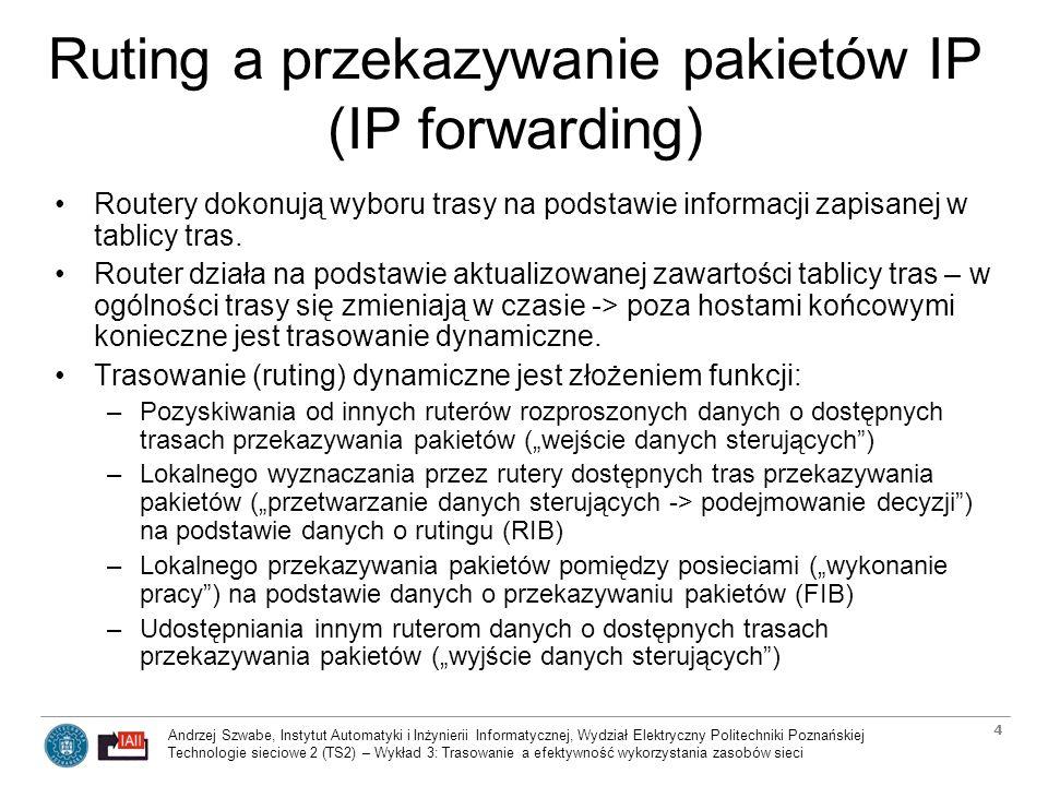 Andrzej Szwabe, Instytut Automatyki i Inżynierii Informatycznej, Wydział Elektryczny Politechniki Poznańskiej Technologie sieciowe 2 (TS2) – Wykład 3: