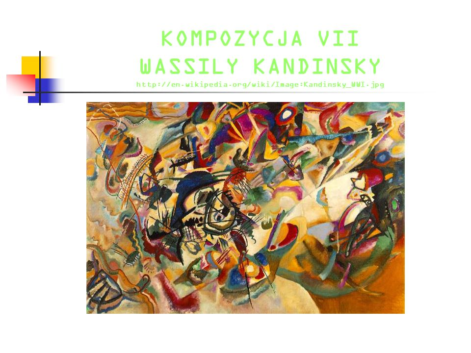NA BIAŁYM II WASSILY KANDINSKY http://en.wikipedia.org/wiki/Image:Kandinsky_white.jpg