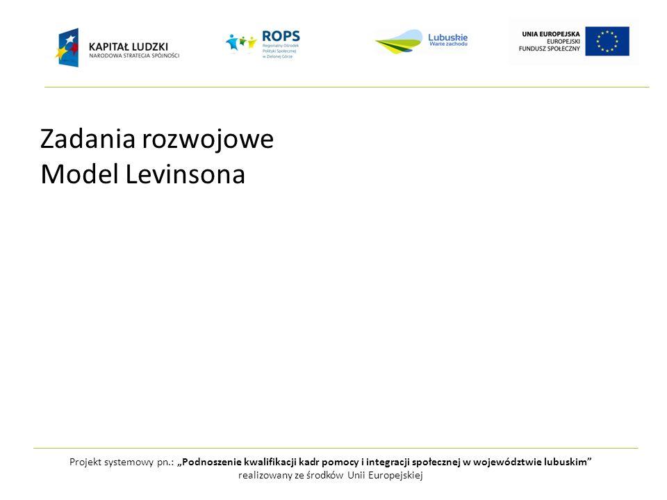 Projekt systemowy pn.: Podnoszenie kwalifikacji kadr pomocy i integracji społecznej w województwie lubuskim realizowany ze środków Unii Europejskiej Z