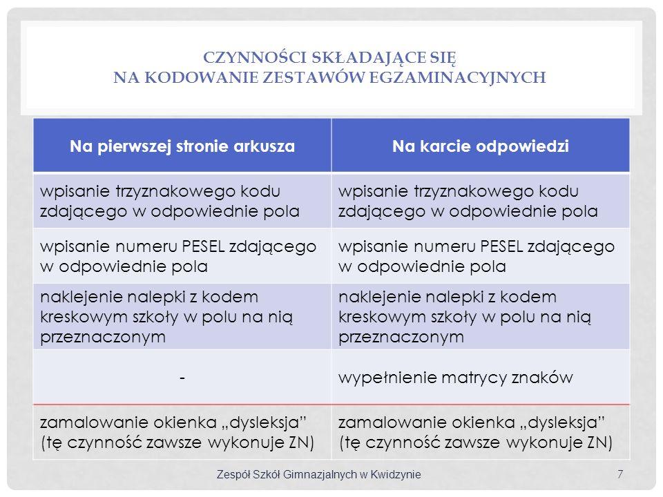 WARUNKI UKOŃCZENIA GIMNAZJUM uzyskanie pozytywnych końcoworocznych ocen klasyfikacyjnych z zajęć edukacyjnych przystąpienie do egzaminu gimnazjalnego §6, p.