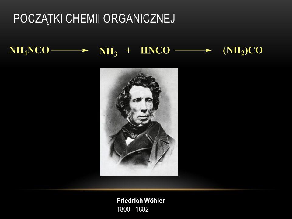 POCZĄTKI CHEMII ORGANICZNEJ Friedrich Wöhler 1800 - 1882