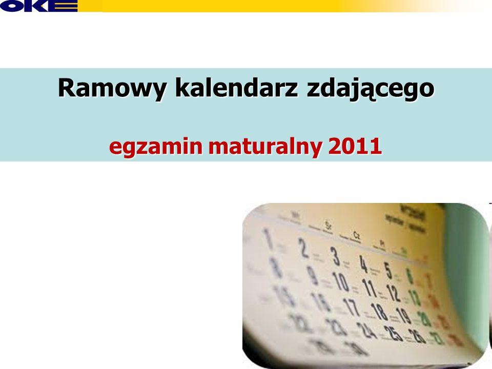 Ramowy kalendarz zdającego egzamin maturalny 2011