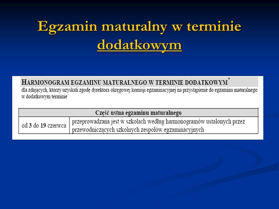 Egzamin maturalny w terminie dodatkowym