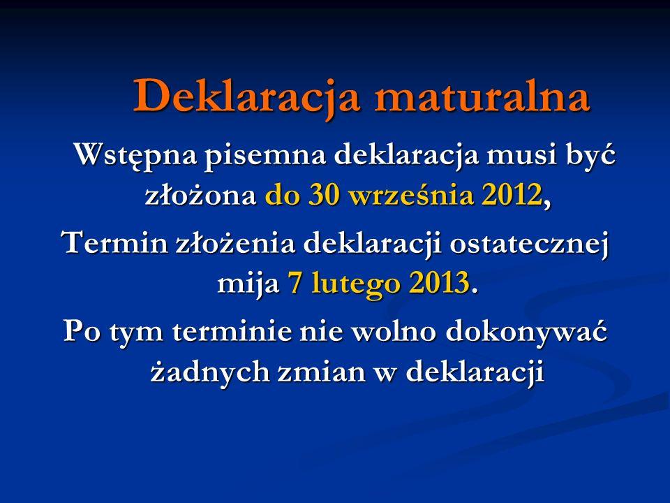 Dokumenty uprawniające do dostosowania warunków i form egzaminu zdający składa do 31 grudnia 2012 r.