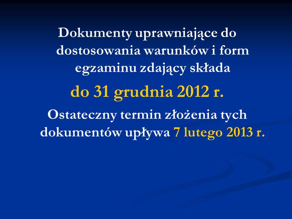 Ponowny egzamin (egzamin w terminie poprawkowym) w części ustnej jest przeprowadzany w macierzystej szkole zdającego (między 20 a 24 sierpnia), a w części pisemnej (21 sierpnia) – w miejscach wskazanych przez dyrektora OKE.