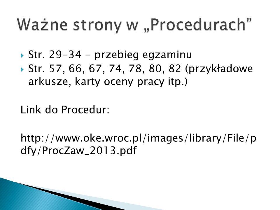 Str.29-34 - przebieg egzaminu Str.