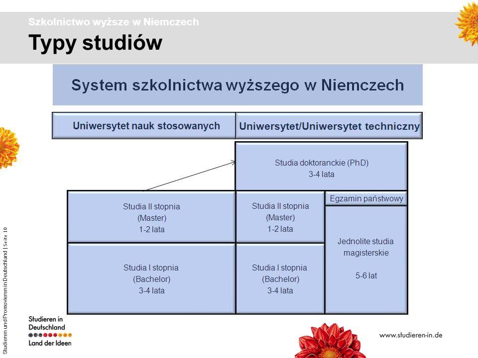 Studieren und Promovieren in Deutschland | Seite 10 Typy studiów Szkolnictwo wyższe w Niemczech