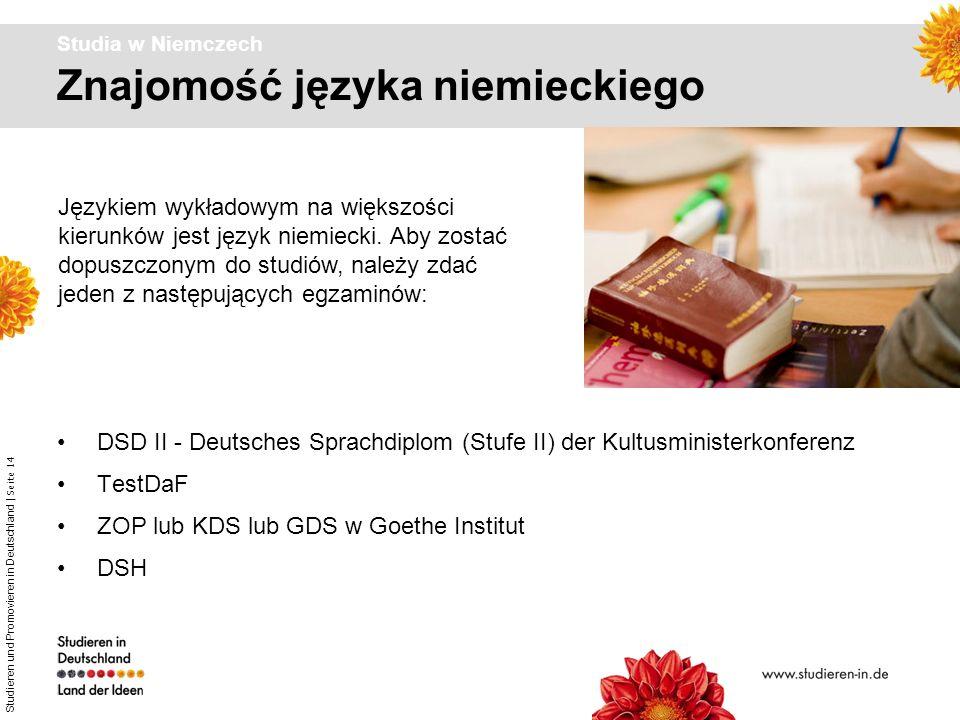 Studieren und Promovieren in Deutschland | Seite 14 Znajomość języka niemieckiego Studia w Niemczech DSD II - Deutsches Sprachdiplom (Stufe II) der Ku