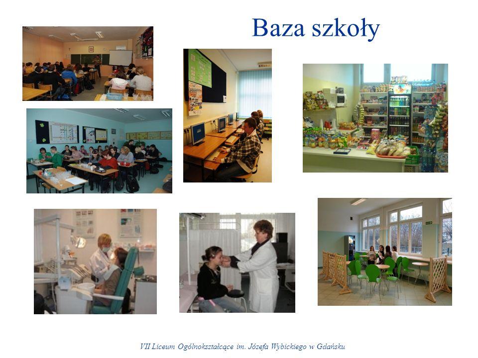 Baza szkoły VII Liceum Ogólnokształcące im. Józefa Wybickiego w Gdańsku