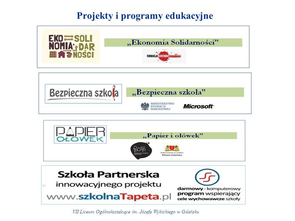 Projekty i programy edukacyjne VII Liceum Ogólnokształcące im. Józefa Wybickiego w Gdańsku
