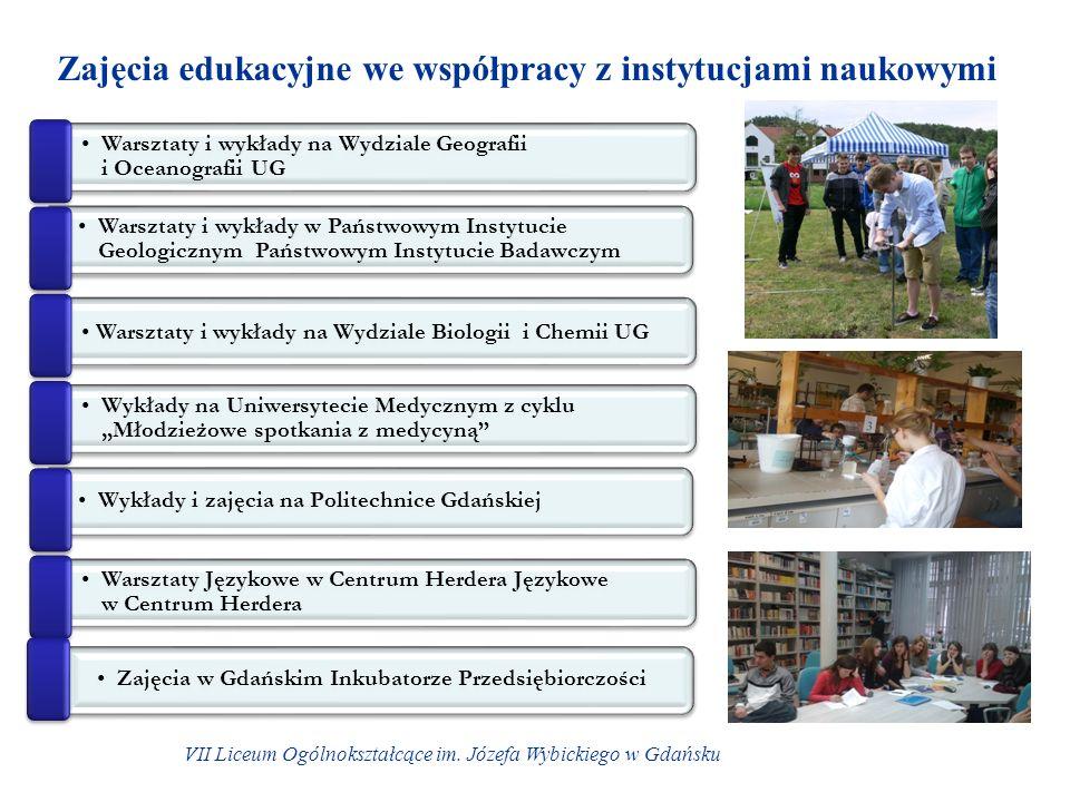 Zajęcia edukacyjne we współpracy z instytucjami naukowymi VII Liceum Ogólnokształcące im.