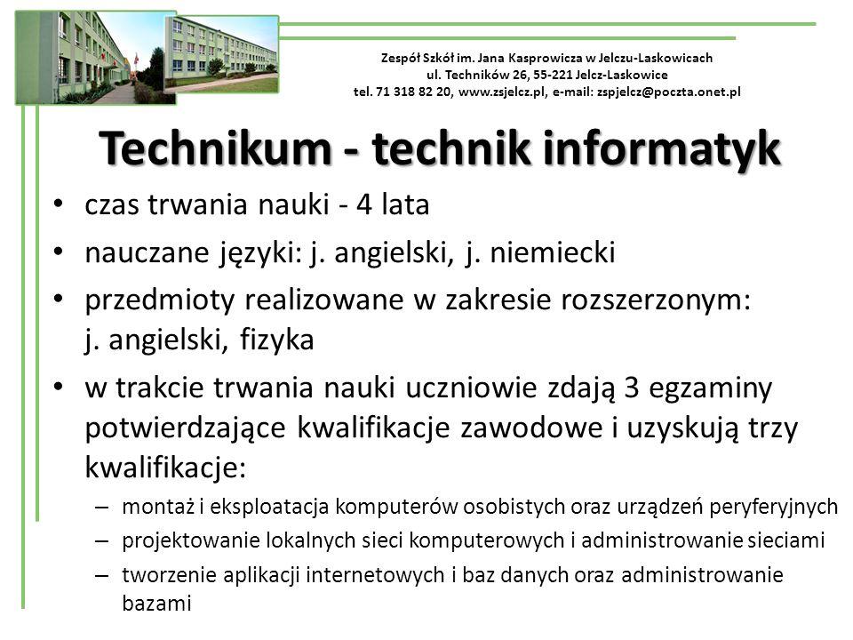 Zespół Szkół im.Jana Kasprowicza w Jelczu-Laskowicach ul.