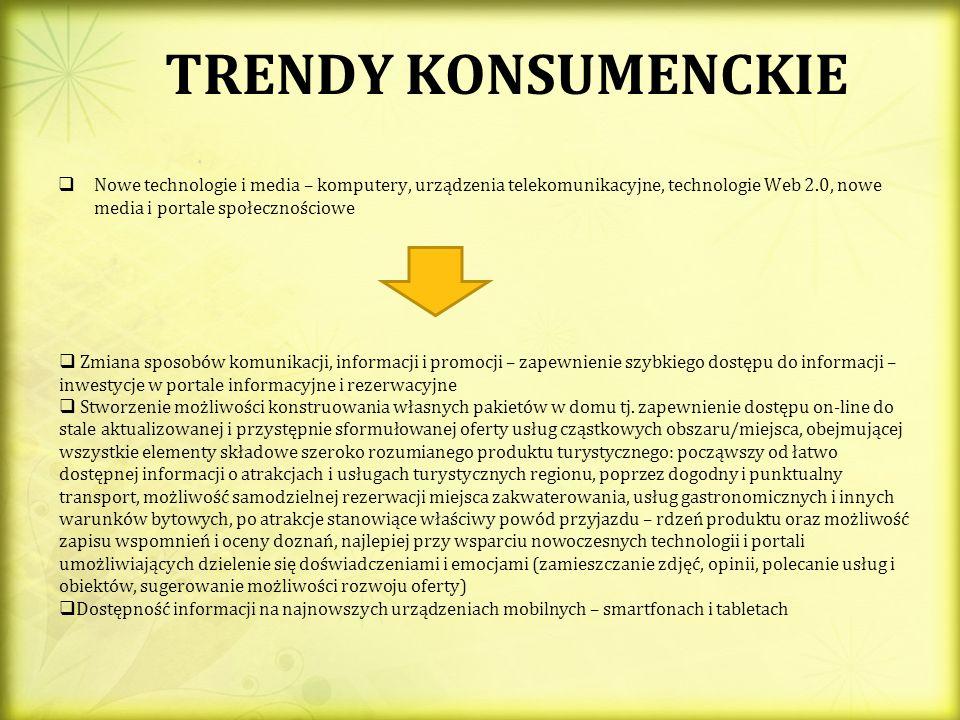TRENDY KONSUMENCKIE Nowe technologie i media – komputery, urządzenia telekomunikacyjne, technologie Web 2.0, nowe media i portale społecznościowe Zmia