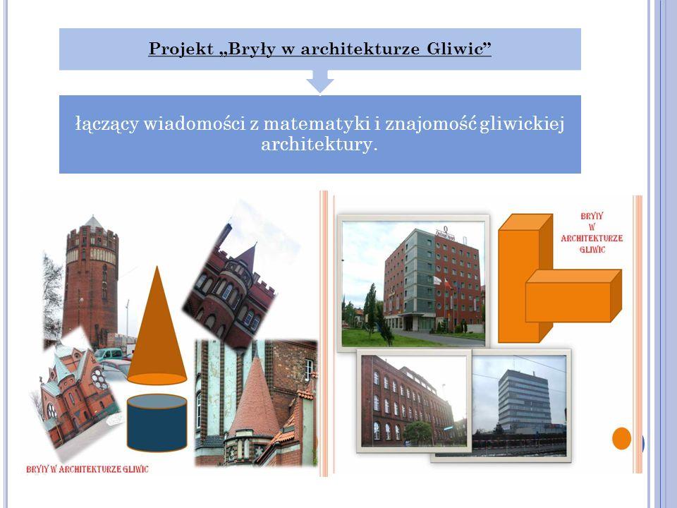 łączący wiadomości z matematyki i znajomość gliwickiej architektury. Projekt Bryły w architekturze Gliwic
