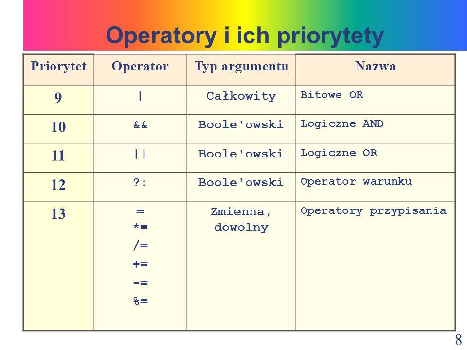 29 class Wektory { public static void main(String args[]) { int a[]={1, 5, 8, 9, 11}; int b[]={3, 4, 7, 15, 32}; int s=0; for (int i=0; i<5; i++) { s=s+a[i]*b[i]; } System.out.println( a * b = + s); } Rozwiązanie