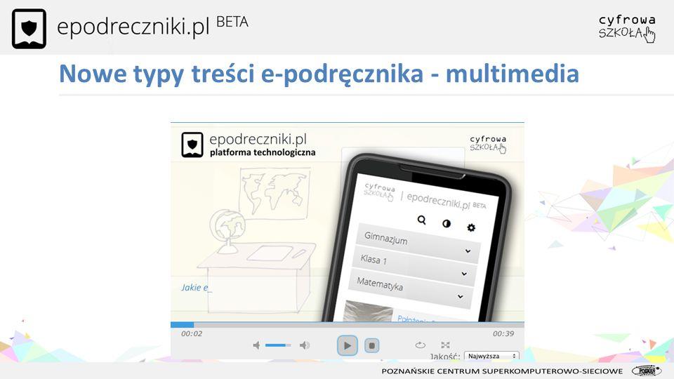 Nowe typy treści e-podręcznika - multimedia