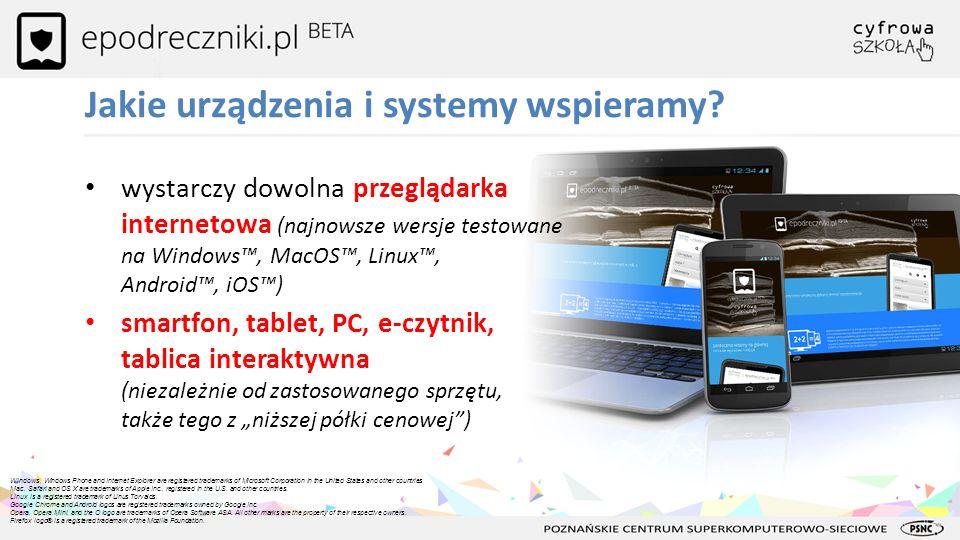Jakie urządzenia i systemy wspieramy? wystarczy dowolna przeglądarka internetowa (najnowsze wersje testowane na Windows, MacOS, Linux, Android, iOS) s