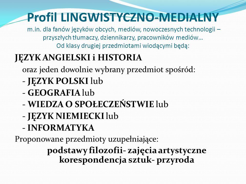 Profil LINGWISTYCZNO-MEDIALNY m.in. dla fanów języków obcych, mediów, nowoczesnych technologii – przyszłych tłumaczy, dziennikarzy, pracowników mediów