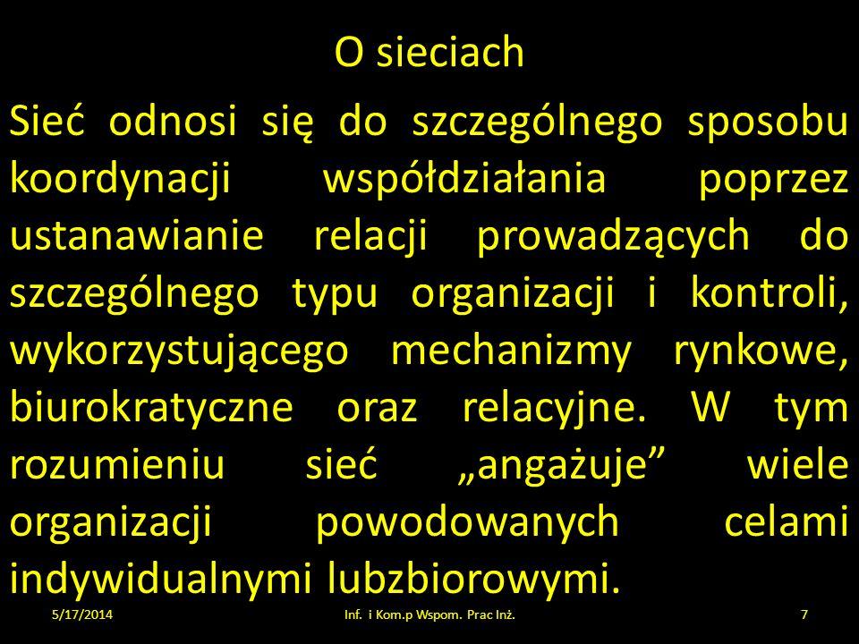 Wykład 6 będzie o Bazach Danych.... 5/17/2014Inf. i Kom.p Wspom. Prac Inż.38