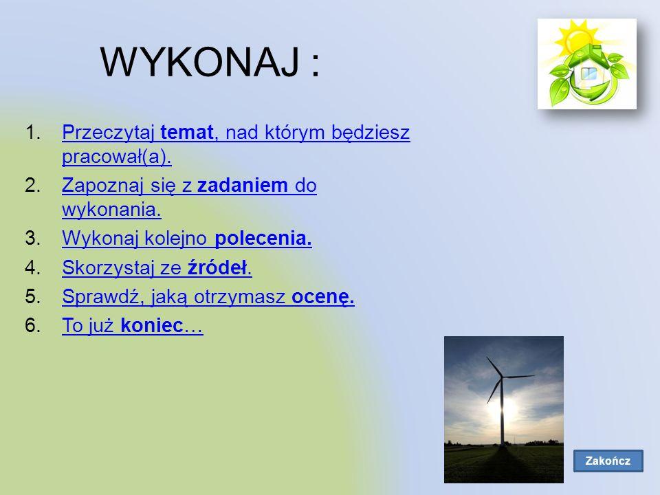 Odnawialne źródła energii.Temat: Odnawialne źródła energii.