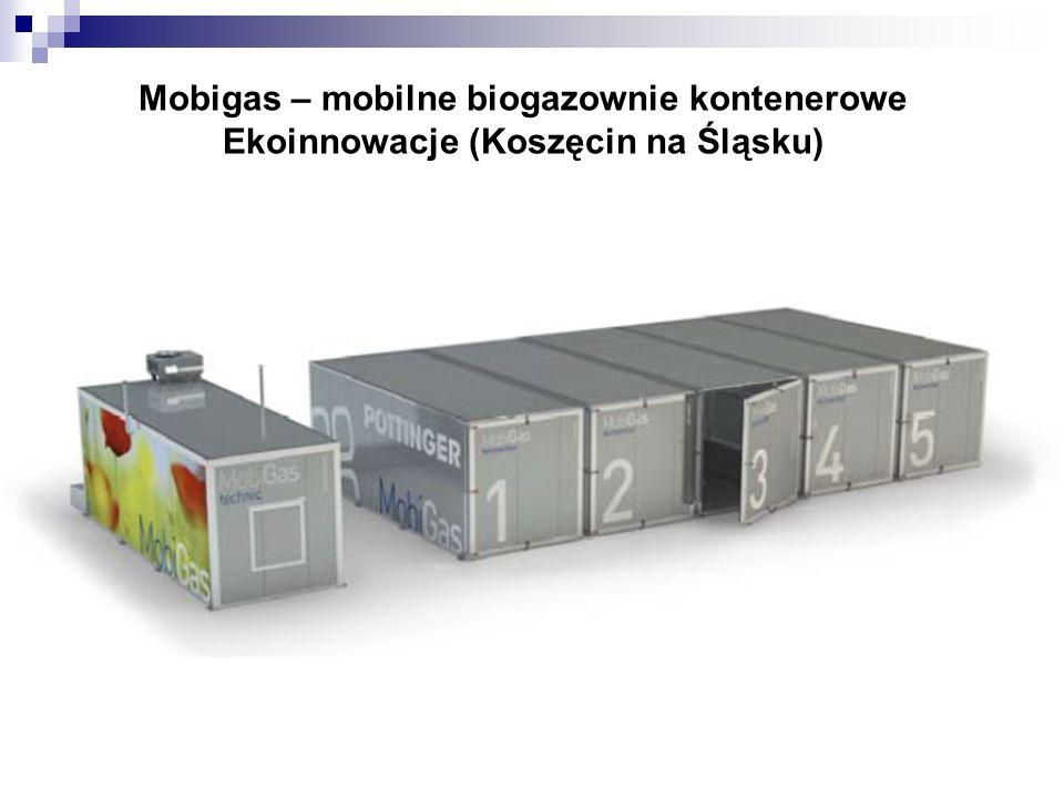 Mobigas – mobilne biogazownie kontenerowe Ekoinnowacje (Koszęcin na Śląsku)