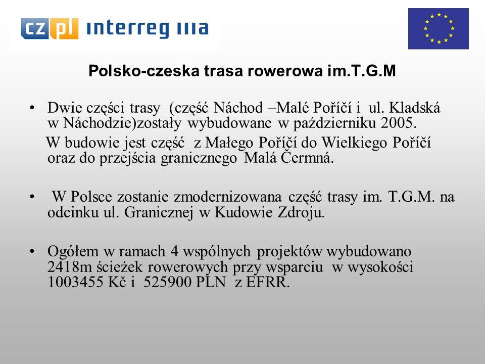 Polsko-czeska trasa rowerowa im.T.G.M Dwie części trasy (część Náchod –Malé Poříčí i ul.