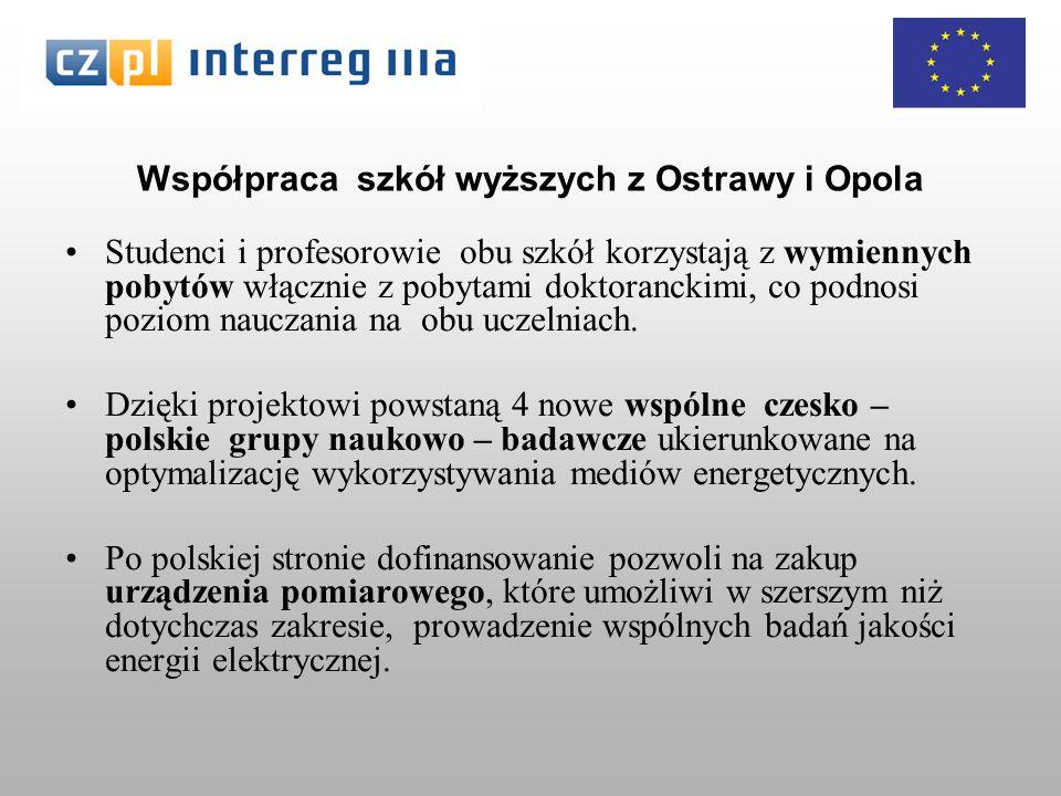 Współpraca szkół wyższych z Ostrawy i Opola Studenci i profesorowie obu szkół korzystają z wymiennych pobytów włącznie z pobytami doktoranckimi, co podnosi poziom nauczania na obu uczelniach.