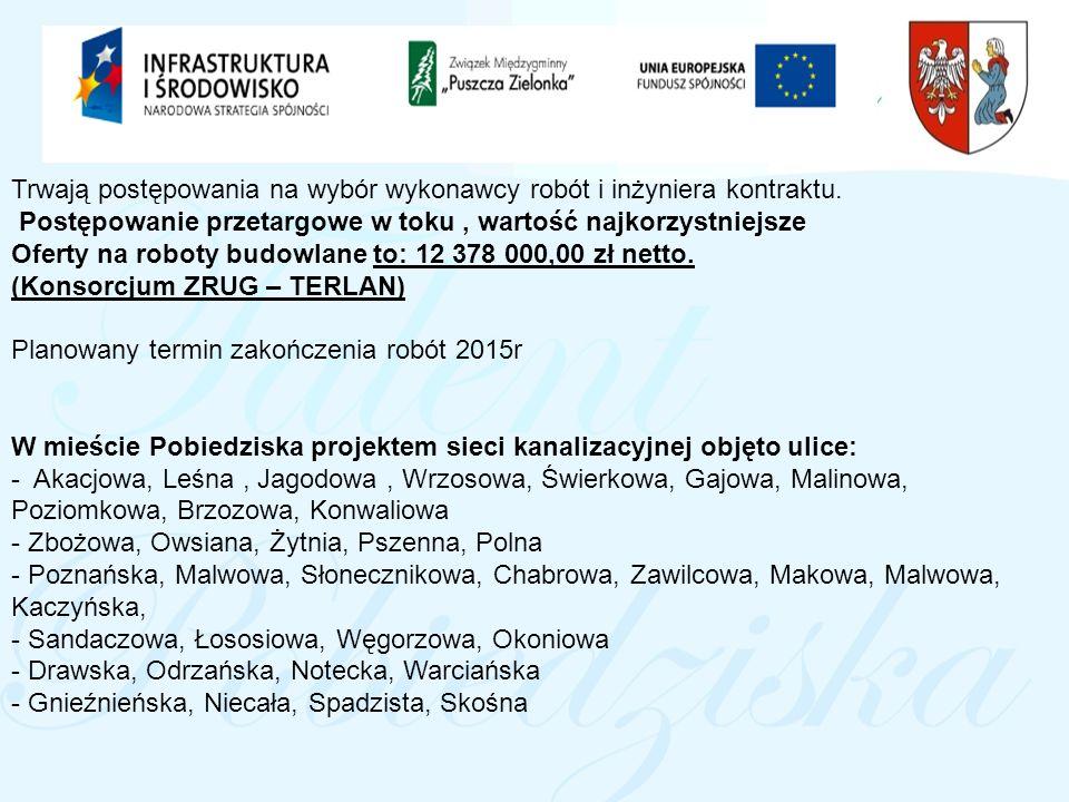 Kanalizacja obszaru Parku Krajobrazowego Puszcza Zielonka i okolic (ETAP II)