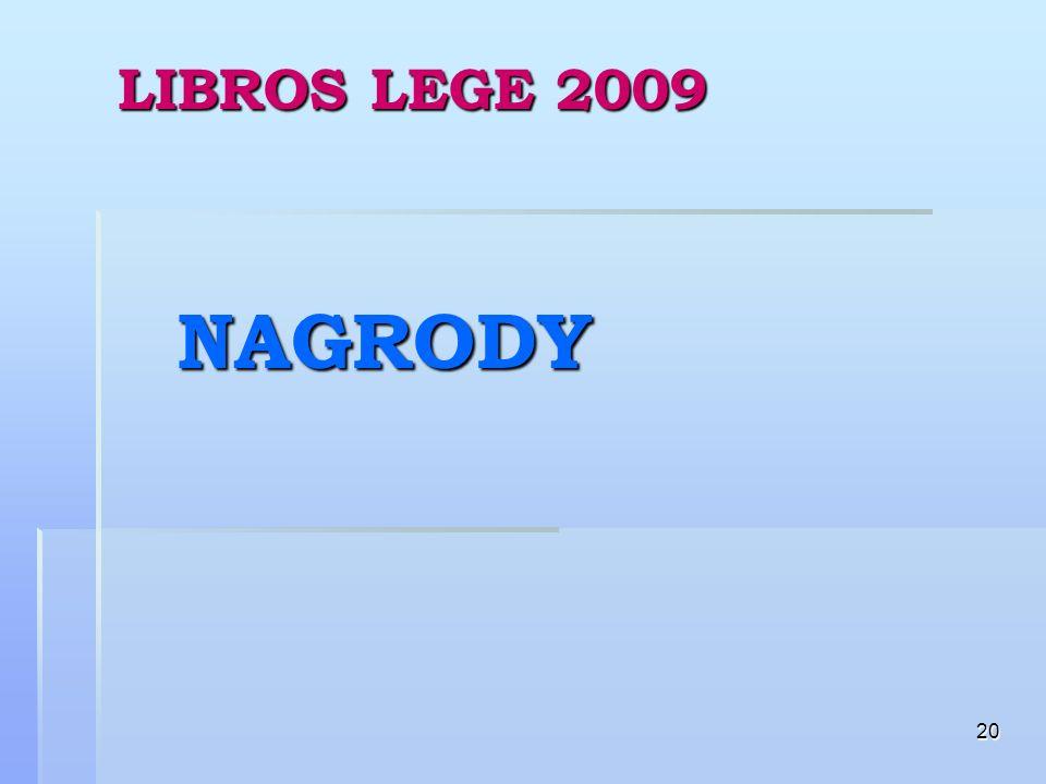 20 LIBROS LEGE 2009 NAGRODY
