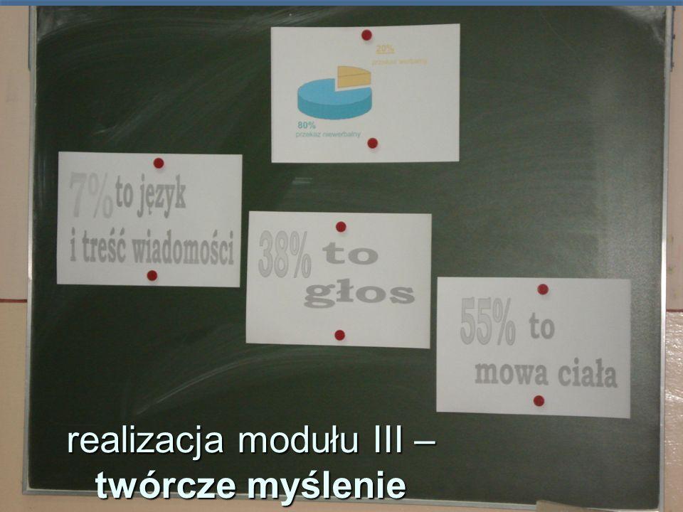 realizacja modułu III – twórcze myślenie
