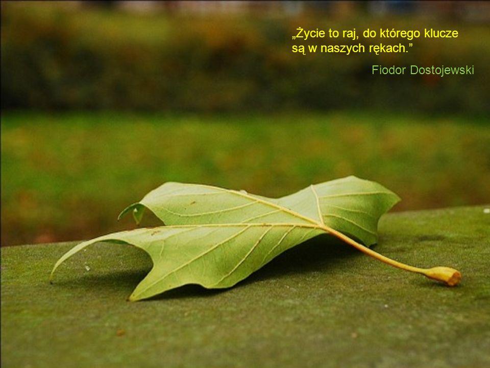 Życie to raj, do którego klucze są w naszych rękach. Fiodor Dostojewski