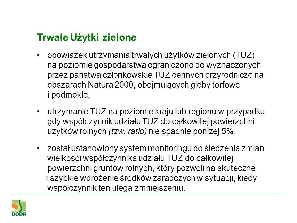 Trwałe Użytki zielone obowiązek utrzymania trwałych użytków zielonych (TUZ) na poziomie gospodarstwa ograniczono do wyznaczonych przez państwa członko