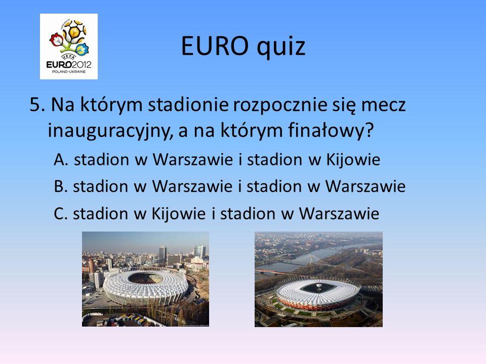 EURO quiz 4.Na ile grup podzielono drużyny startujące w EURO 2012.