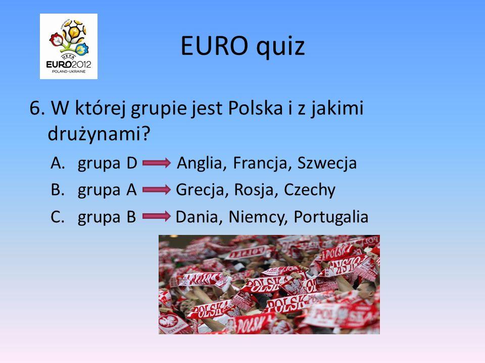 EURO quiz 5.Na którym stadionie rozpocznie się mecz inauguracyjny, a na którym finałowy.