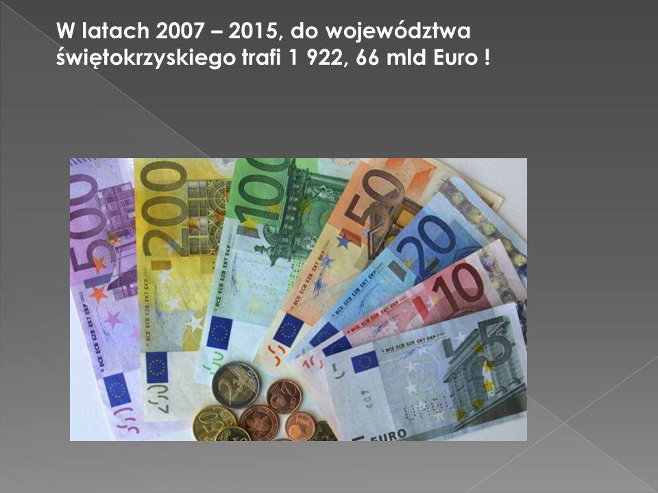 Udział środków krajowych szacowany jest na 317, 53 mln Euro, natomiast środki unijne to 1 605,13 mld Euro!